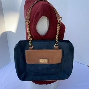 Tommy Hilfiger Women's Shoulder Bag Blue Tan